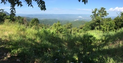 A panorama from the first high ridge east of Chiang Muan.